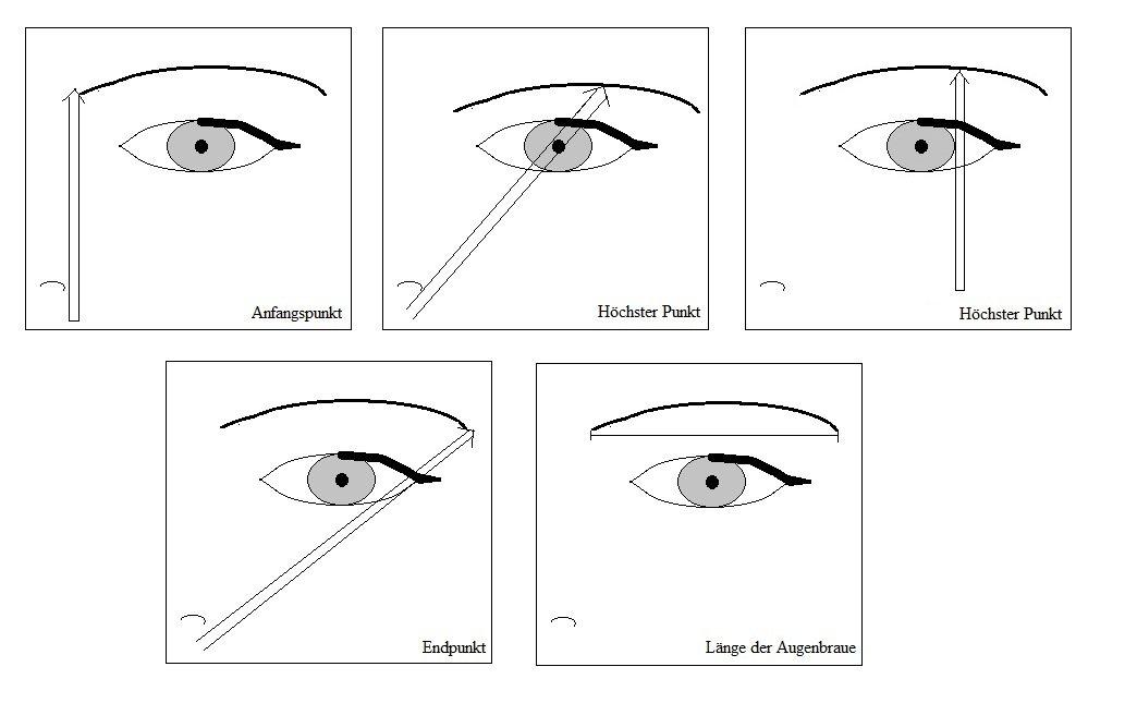 Tipps und Anleitung zur Augenbrauenschablone › Anleitungen - Vorlagen