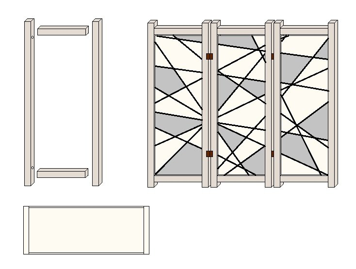bauanleitung für einen paravent mit linienmuster › anleitungen, Garten seite